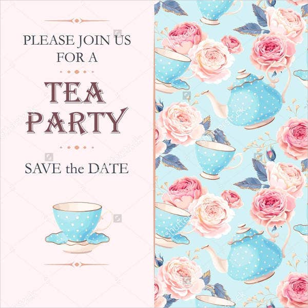 formal tea party invitation