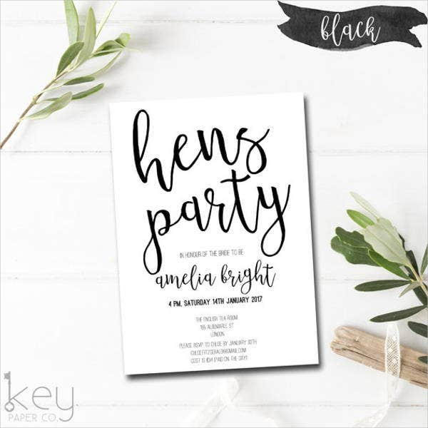 7 hen party invitation designs templates psd ai free