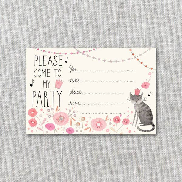 Funny Kitty Party Invitation