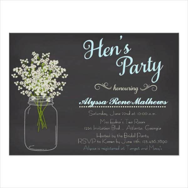 personalized hen party invitation1