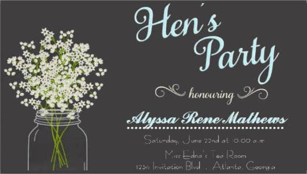 hen party invitations1