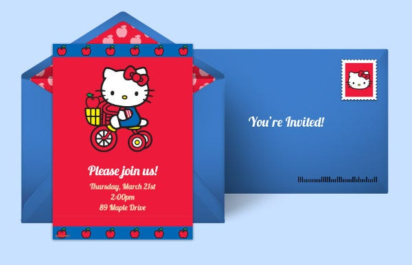 12 kitty party invitations free premium templates hello kitty party invitation spiritdancerdesigns Images
