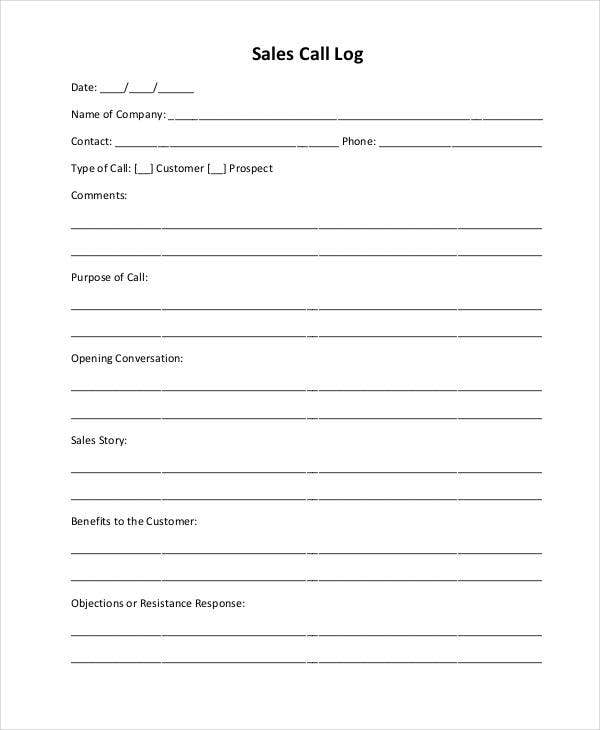 Sales Call Report Template - 11+ Free Word, PDF Format Download ...