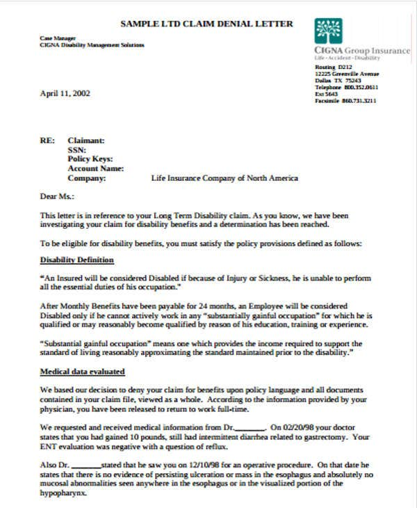 Claim Letter Templates 6 Free Sample Example Format Download – Claim Template Letter