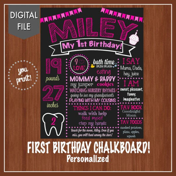 Baby Birthday Event Invitation