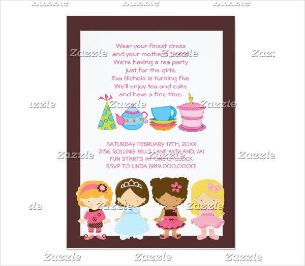 childrens tea party invitation1