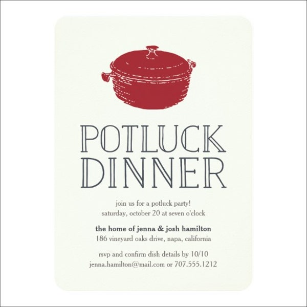 9 potluck party invitations free sample example format download potluck dinner party invitation stopboris Image collections