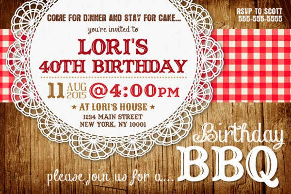 potluck birthday party invitation