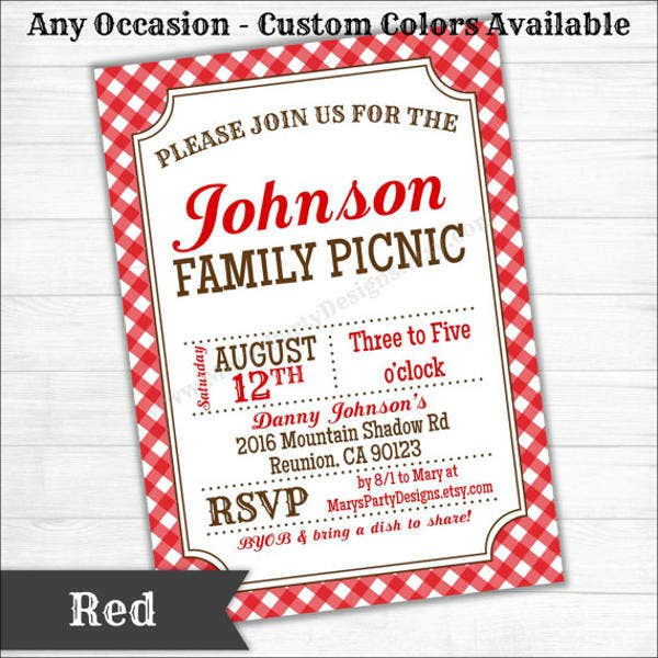 potluck picnic party invitation