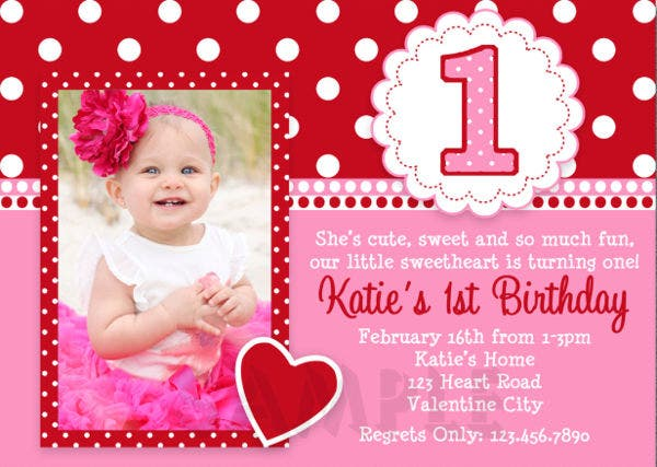 first birthday event invitation