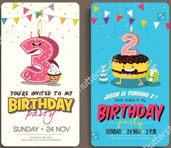 birthday party event invitation