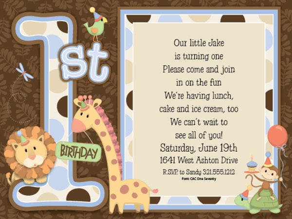 birthday event invitation wording