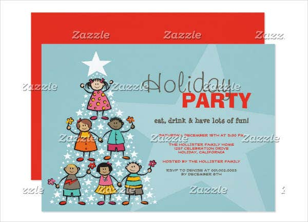 childrens holiday party invitation
