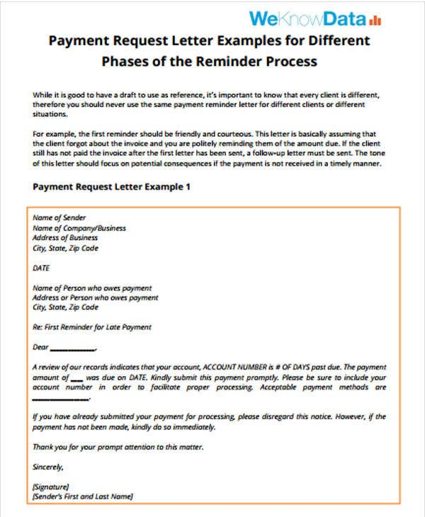 payment follow up letter template