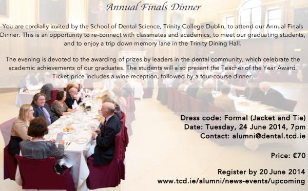 formal annual dinner invitation