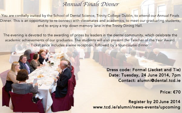 8  annual dinner invitations