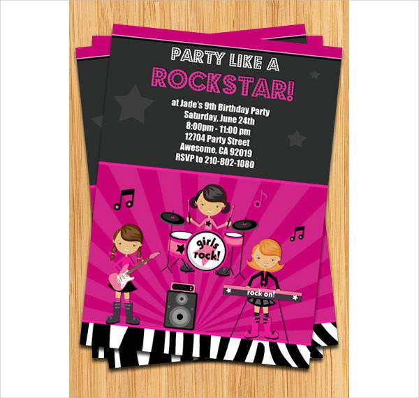 childrens music party invitation1