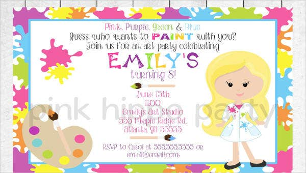 9childrenspartyinvitations