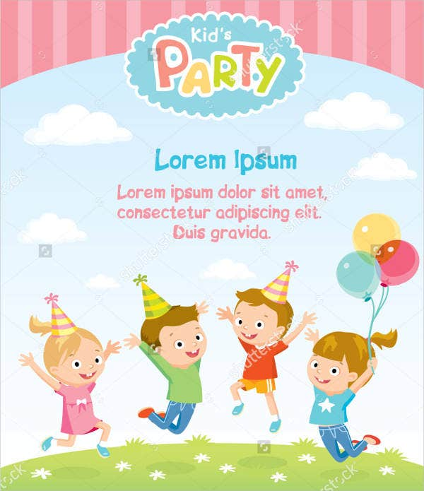 Blank Children's Party Invitation