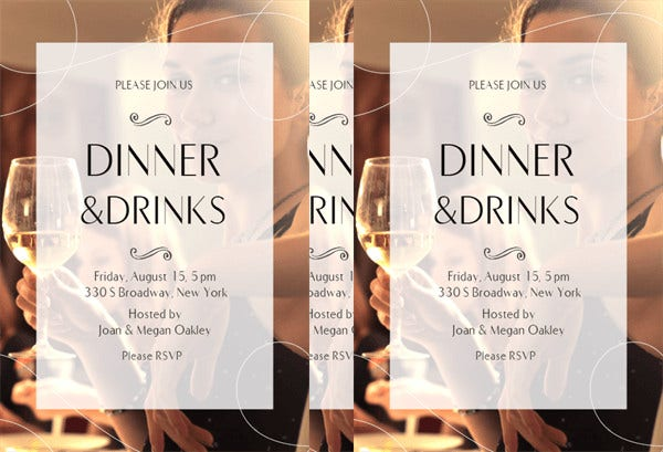 printable annual dinner invitation