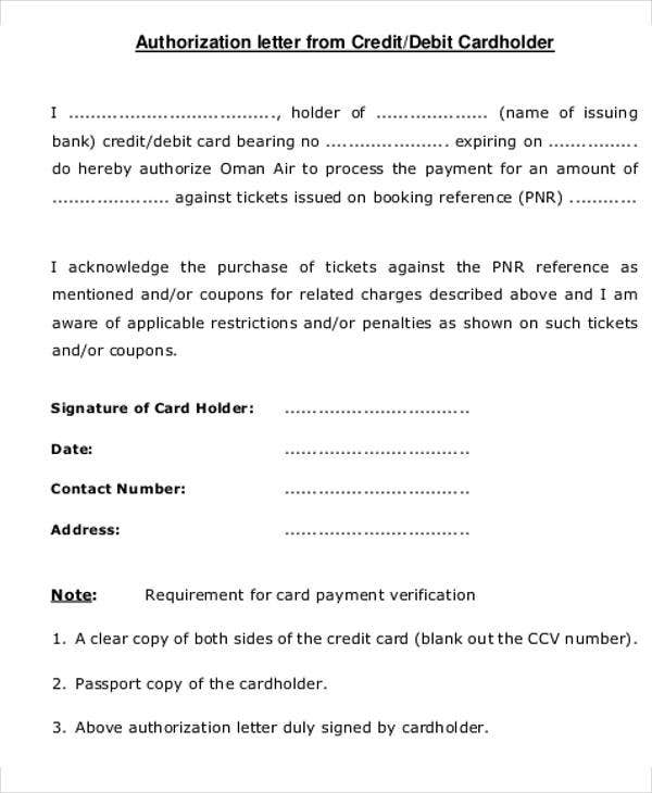 Credit Letter Templates   Free Sample Example Format Download