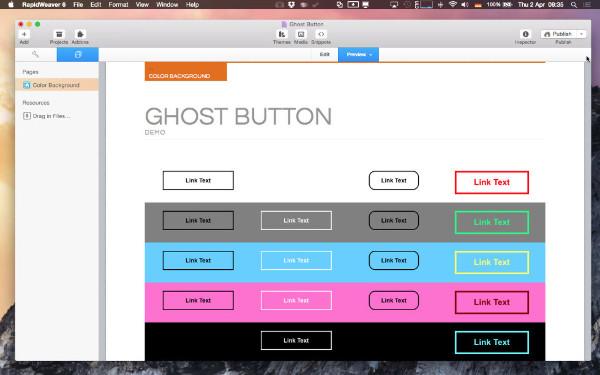Ghost Blog Social Button