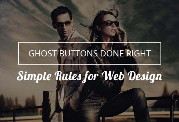 Modern Ghost Button