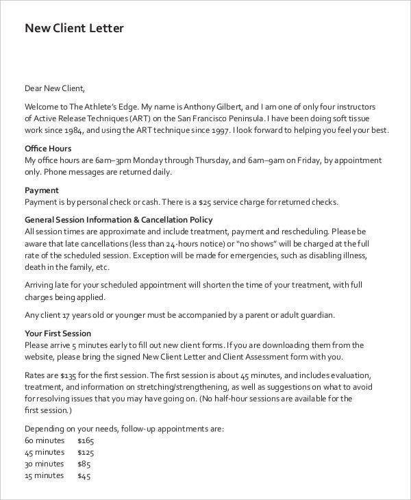 9+ Client Letter Templates   Free Sample, Example Format Download