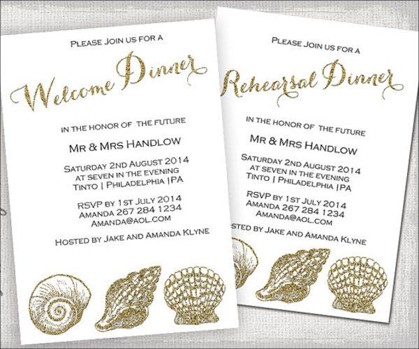 Wedding Welcome Dinner Invitation Wording: 10+ Wedding Dinner Invitations - PSD, EPS, AI