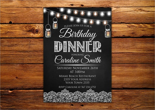 -Birthday Dinner Invitation