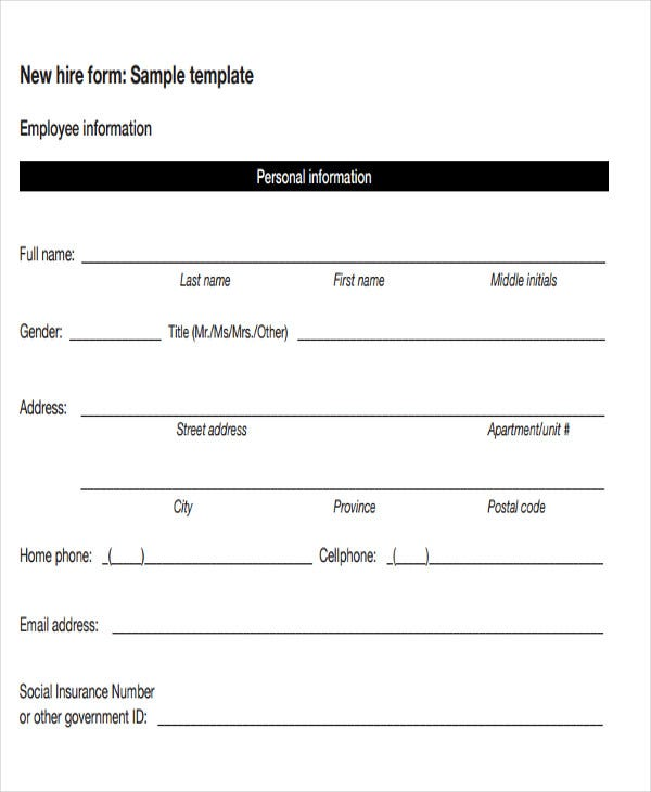 sample employee payroll template