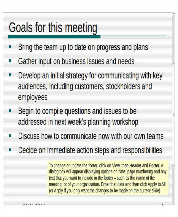 Team Meeting Presentation Template