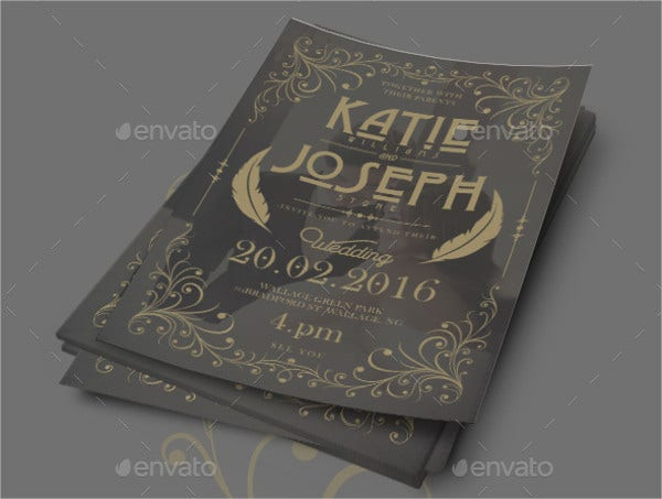 rustic vintage invitation