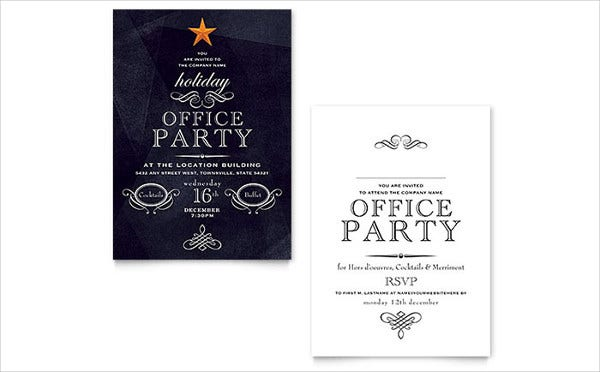 office holiday invitation