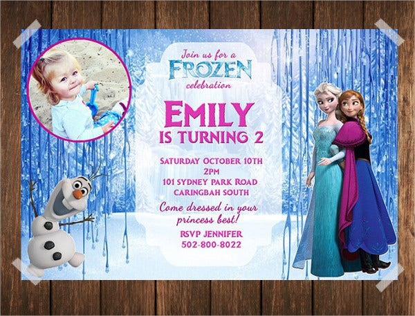 Frozen Photo Invitation