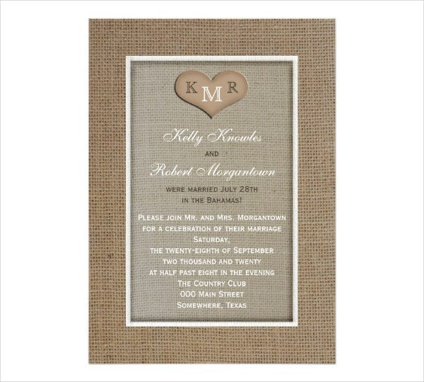 Wedding Reception Invitation