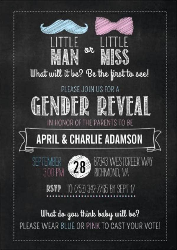 little miss gender reveal party invitation