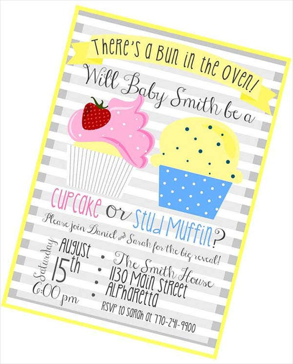 printable gender reveal party invitation1