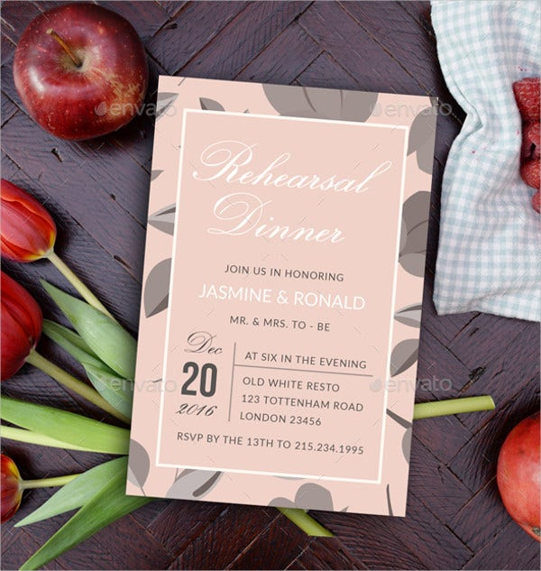 wedding dinner invitation
