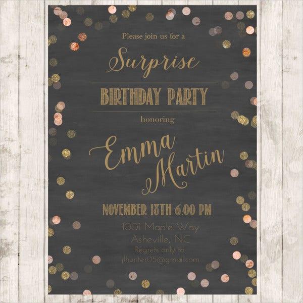 Diy Birthday Invitation