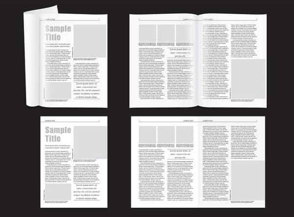 minimal magazine layout template