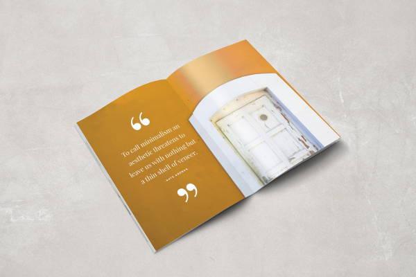 indesign minimal magazine template