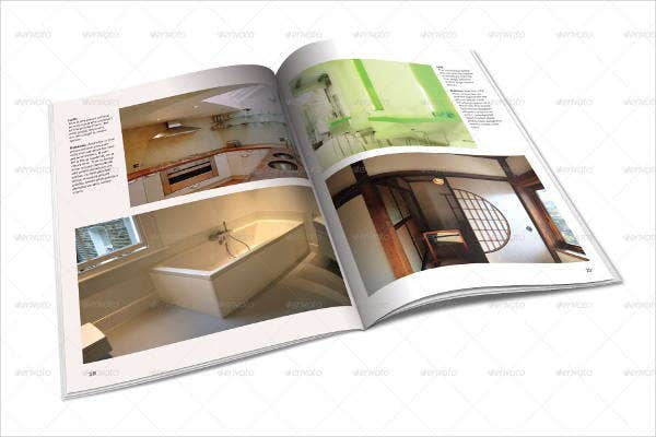 minimalist architecture magazine template