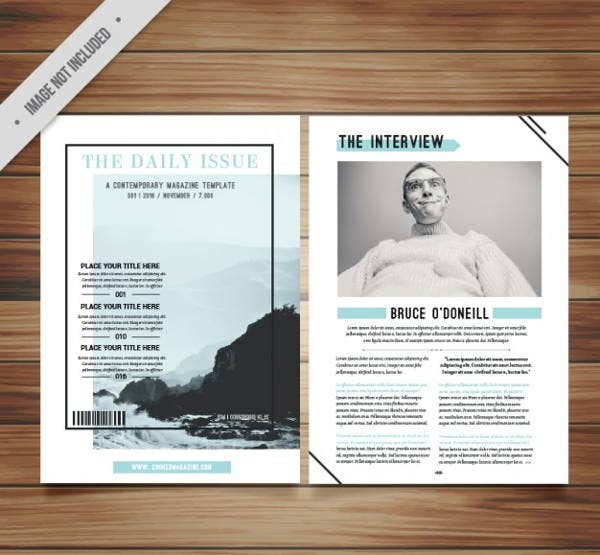 21 minimalistic magazine templates free premium templates for Make your own magazine cover template