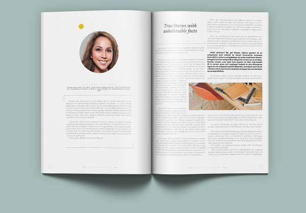 clean minimal magazine template