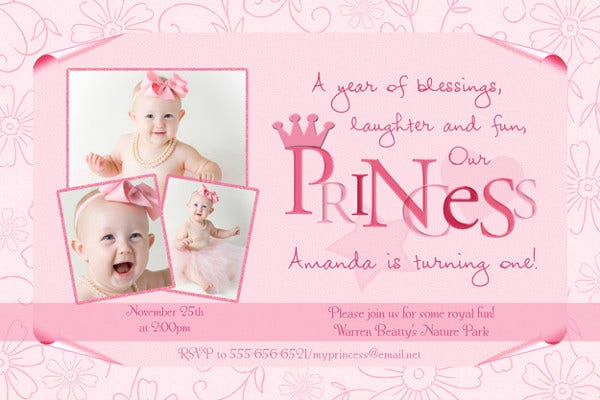 Princess Pirate Party Invitation