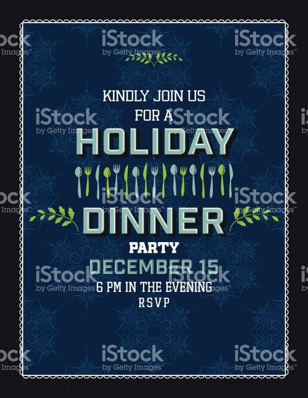 holiday dinner party invitation2
