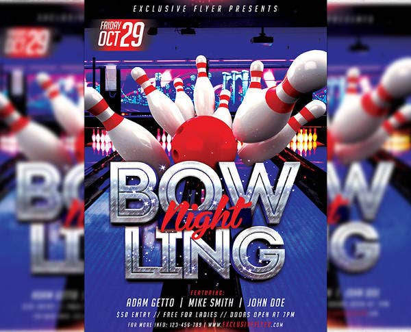 -Corporate Bowling Event Invitation