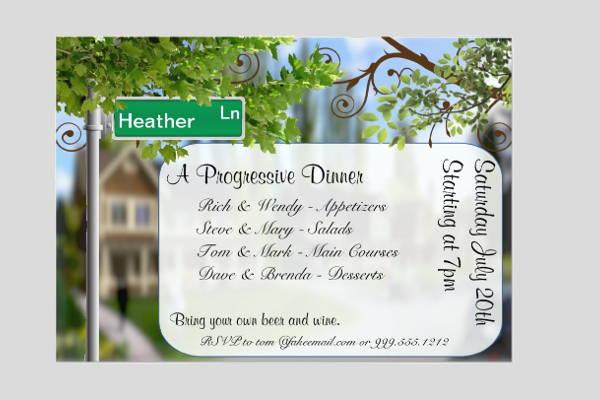 holiday progressive dinner invitation1