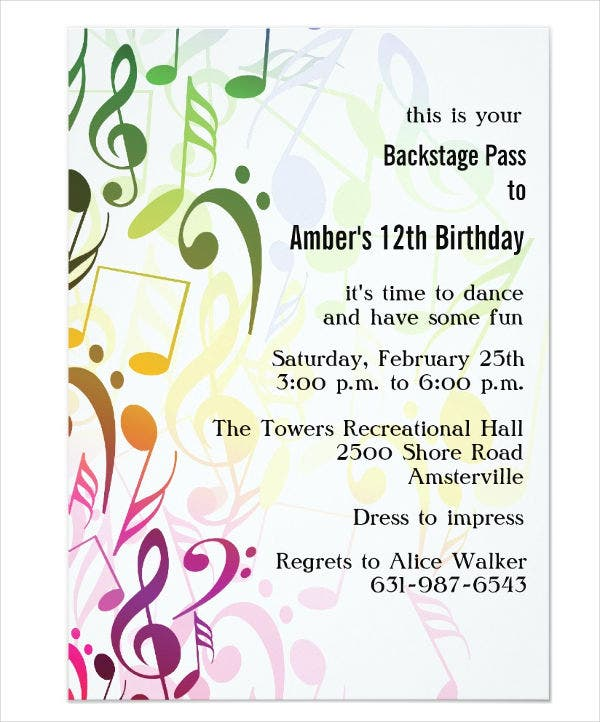 46 event invitation templates free premium templates music party event invitation stopboris Choice Image